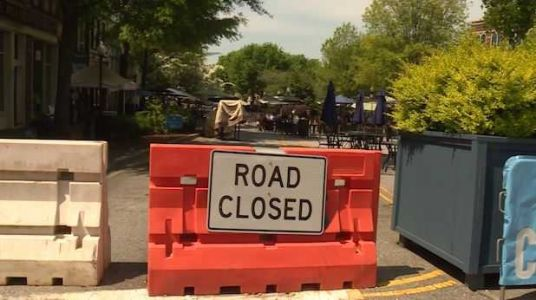 Popular stretch of downtown Spartanburg to remain closed to traffic until at least August
