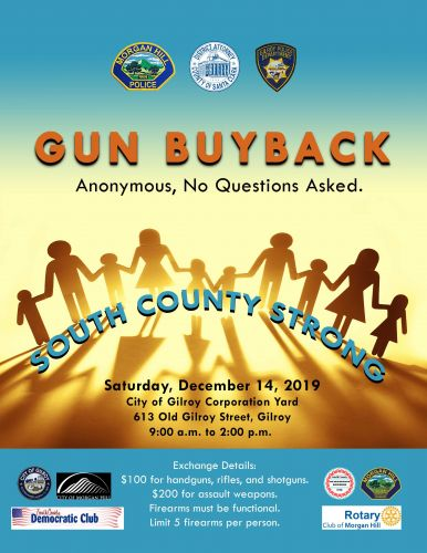 Gilroy police to participate in gun buyback day