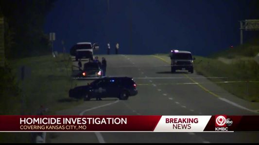 Police investigating homicide off of I-49 ramp to Red Bridge Road