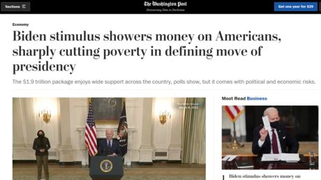 'Biden showers money on Americans'?! WaPo mocked for 'Dear Leader' vibes in Covid stimulus story