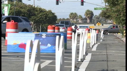 Stretch of East Alisal Street gets temporary makeover for pedestrian safety