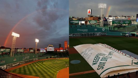 Is it a sign? Rainbow appears over Fenway before World Series. again