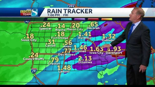 Damp day ahead with multiple rounds of storms