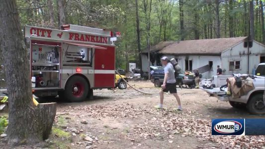 Firefighter treated for heat exhaustion after fire breaks out at Northfield home