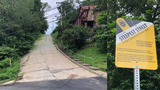 The world's steepest street: Welsh road claims title over Pittsburgh's Canton Avenue in Beechview