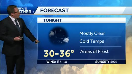 Another cold night, partly cloudy tomorrow