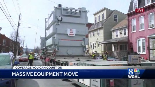 Transformer makes slow journey to PPL substation in Lancaster County