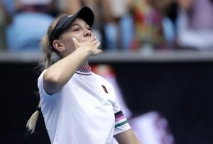 Kvitova takes an hour to end Anisimova's run at Aussie Open