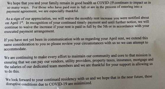 After backlash, company appears to back down from affordable housing rent increase