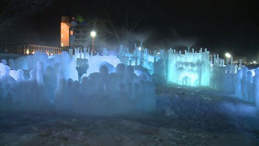 Photos: Behind the scenes of the Lake Geneva Ice Castles