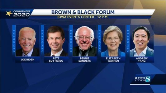 9 presidential candidates in Iowa for Brown and Black Forums