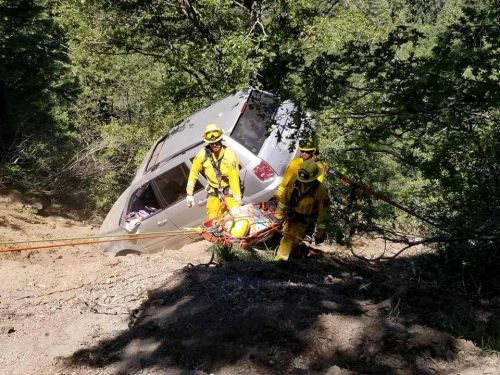 Woman rescued after spending night on side of Placer County cliff