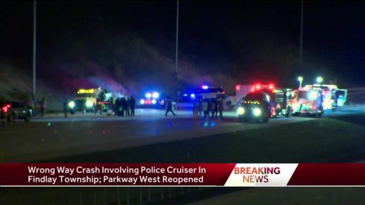 Police: Wrong-way driver hits police car on Parkway West