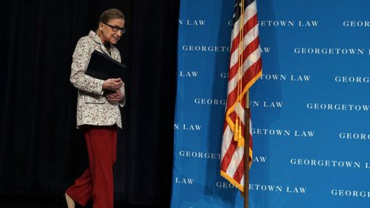 Ruth Bader Ginsburg Hospitalized After Falling, Fracturing 3 Ribs