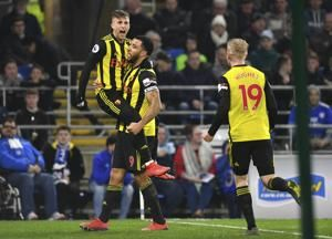 Deulofeu hat-trick leads Watford to 5-1 rout of Cardiff