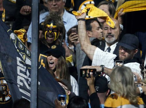 Liam Fitzgerald serves as Bruins banner captain for Game 7 alongside Julian Edelman, Aly Raisman
