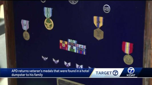 'I was shocked but distraught': Veteran's medals returned after they were found in a hotel dumpster