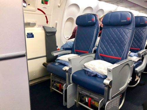I flew Delta's extra legroom seats to Iceland and the flight was fine, but the extra space comes with a catch