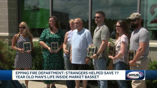 Epping Fire Department honors Market Basket shoppers who helped save man's life
