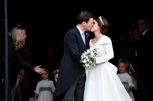 Princess Eugenie and Jack Brooksbank just shared their first kiss as a married couple