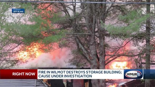 Fire in Wilmot destroys storage building; cause under investigation