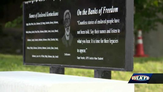 New installation on Louisville's riverfront honors enslaved Kentuckians