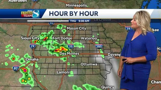 Another round of light, scattered showers before storm chances return