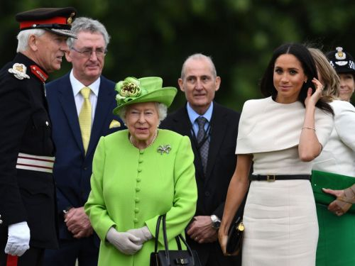 Meghan Markle and the Queen made their first joint engagement after a night on the royal train