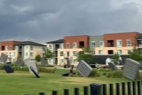 Wind gusts send mattresses flying through Colorado field