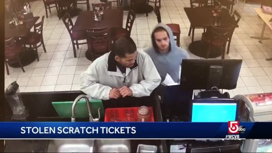 Police looking for thieves who cashed in scratch tickets in Boston
