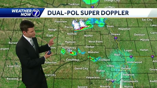 Few isolated evening storms possible, more storms likely Sunday