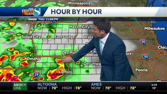 Mild conditions turn stormy late Thursday