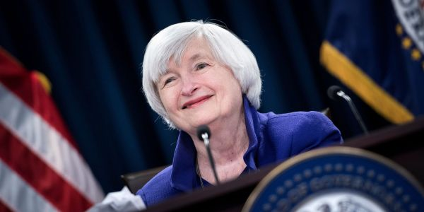 Dow climbs 328 points amid reports Janet Yellen will be named Treasury Secretary