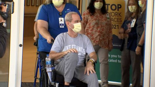 A dad who traveled 1,200 miles for COVID-19 care is finally going home