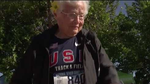 103-year-old runner nicknamed 'Hurricane' setting world records
