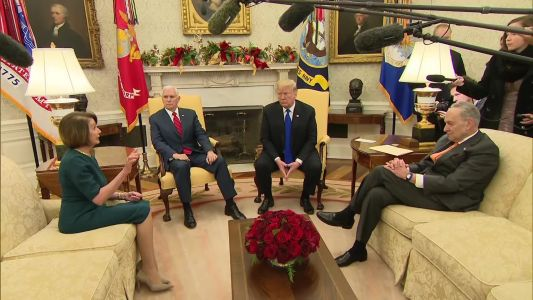 Trump clashes with Pelosi, Schumer in public meeting over border wall