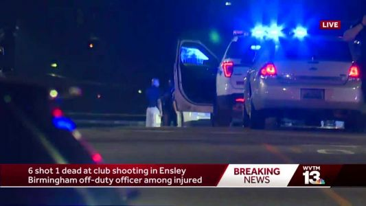 Police: 1 dead, 5 injured, including off-duty officer, after shooting at Alabama motorcycle club
