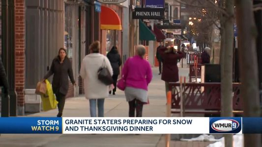 Granite Staters prepare for snow, Thanksgiving dinner