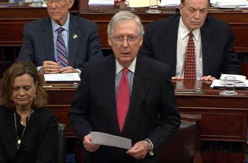 McConnell tells Republicans he does not yet have votes to block witnesses in President Donald Trump's impeachment trial