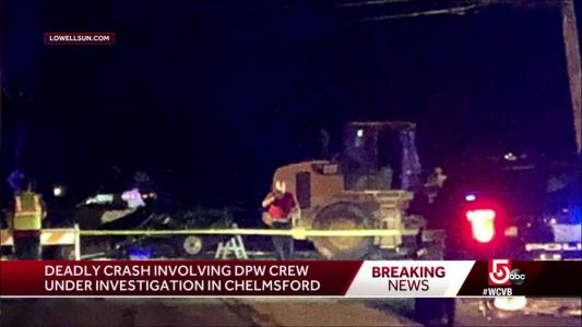 1 dead in crash involving storm cleanup crew, pickup