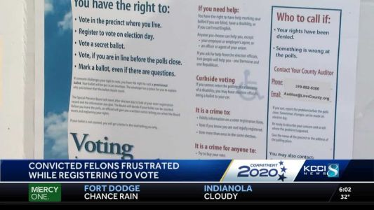 Some felons voice frustration with voting rights process