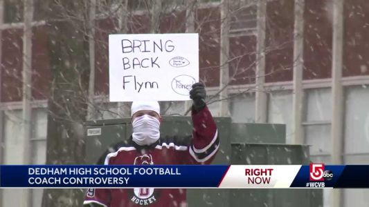 Students protest after high school removes football coach