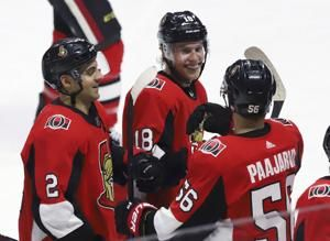 Dzingel scores in overtime, Senators beat Penguins 2-1