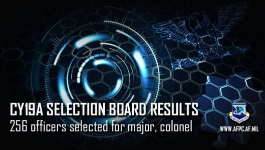Air Force releases CY19A officer central selection board results for Medical Service, Nurse Corps