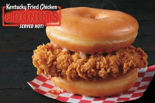 The new KFC donut sandwich has fans and foes riled up
