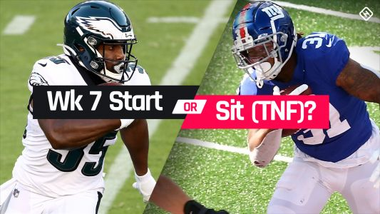 Eagles vs. Giants Fantasy Football Start 'Em Sit 'Em for Week 7 'Thursday Night Football'