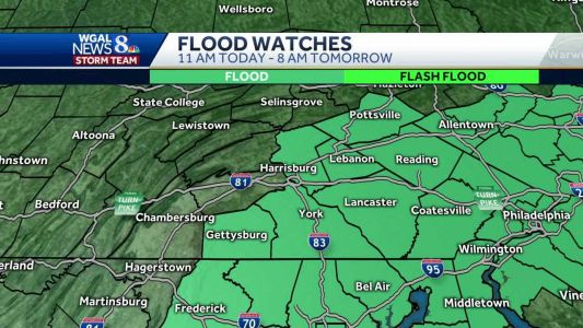 Some parts of the Susquehanna Valley could get more than two inches of rain