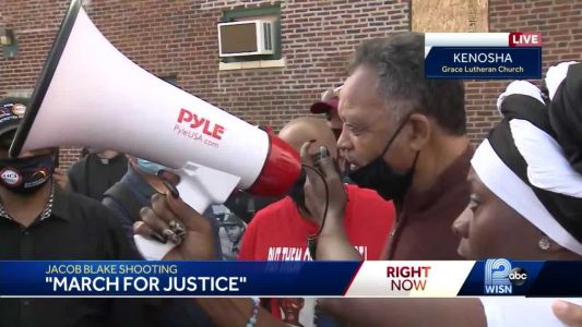 Rev. Jesse Jackson joins 'march for justice' in Kenosha