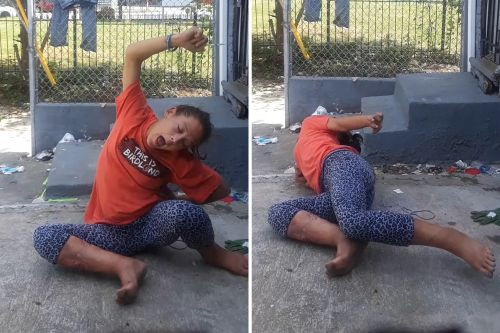 Zombie-like woman found convulsing near abandoned house