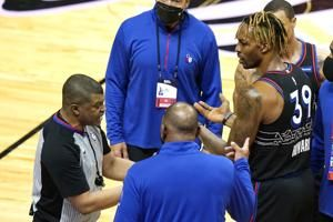 76ers' Howard suspended a game for too many technicals